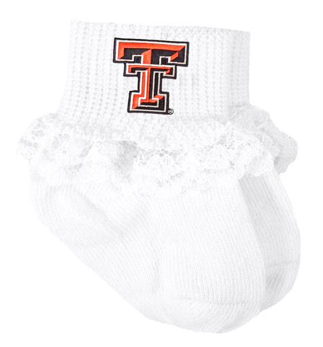 Texas Tech Red Raiders Baby Sock Booties with Lace