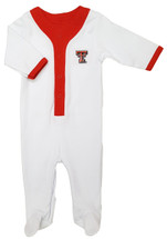 Texas Tech Red Raiders Baby Long Sleeve Baseball Style Playsuit