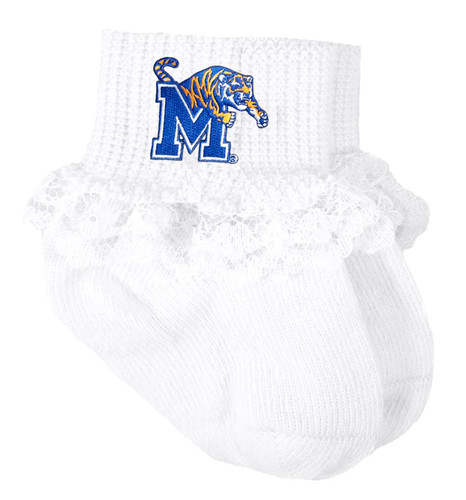 Memphis Tigers Baby Laced Sock Booties