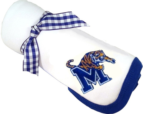 Memphis Tigers Baby Receiving Blanket