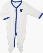 Memphis Tigers Baby Long Sleeve Pleated Playsuit