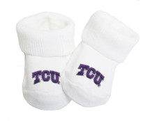 Texas Christian TCU Horned Frogs Baby Toe Booties