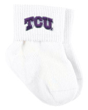 Texas Christian TCU Horned Frogs Baby Sock Booties