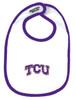 Texas Christian TCU Horned Frogs 2 Ply Baby Bib
