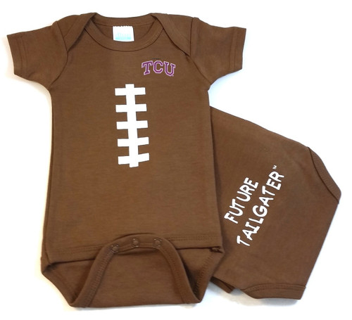 Texas Christian TCU Horned Frogs Future Tailgater Football Baby Onesie