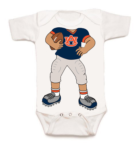 Auburn Tigers Heads Up! Football Baby Onesie