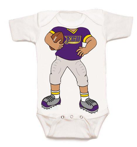East Carolina Pirates Heads Up! Football Baby Onesie