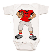 Texas Tech Red Raiders Heads Up! Football Baby Onesie