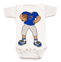 Memphis Tigers Heads Up! Football Baby Onesie