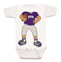 Texas Christian TCU Horned Frogs Heads Up! Football Baby Onesie