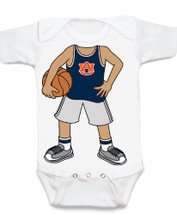 Auburn Tigers Heads Up! Basketball Baby Onesie