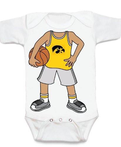 Iowa Hawkeyes Heads Up! Basketball Baby Onesie