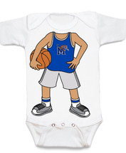 Memphis Tigers Heads Up! Basketball Baby Onesie