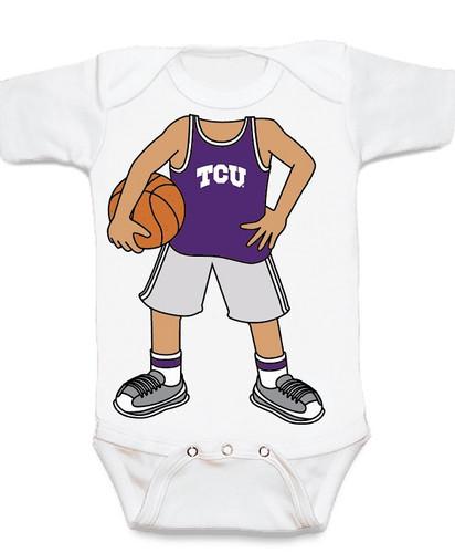 Texas Christian TCU Horned Frogs Heads Up! Basketball Baby Onesie