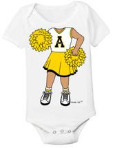 Appalachian State Mountaineers Heads Up! Cheerleader Baby Onesie