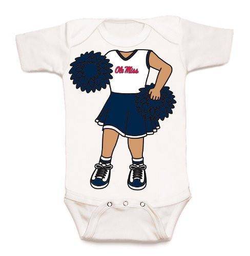 Mississippi Ole Miss Rebels Heads Up! Cheerleader Baby Onesie