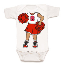 NC State Wolfpack Heads Up! Cheerleader Baby Onesie
