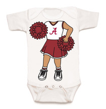 Alabama Crimson Tide Heads Up! Cheerleader Baby Onesie