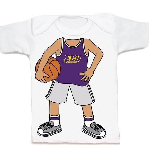 East Carolina Pirates Heads Up! Basketball Infant/Toddler T-Shirt