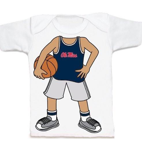 Mississippi Ole Miss Rebels Heads Up! Basketball Infant/Toddler T-Shirt