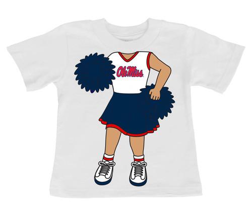 Mississippi Ole Miss Rebels Heads Up! Cheerleader Infant/Toddler T-Shirt