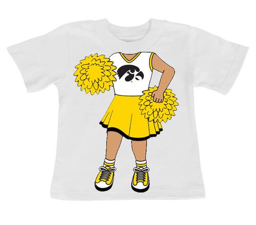 Iowa Hawkeyes Heads Up! Cheerleader Infant/Toddler T-Shirt
