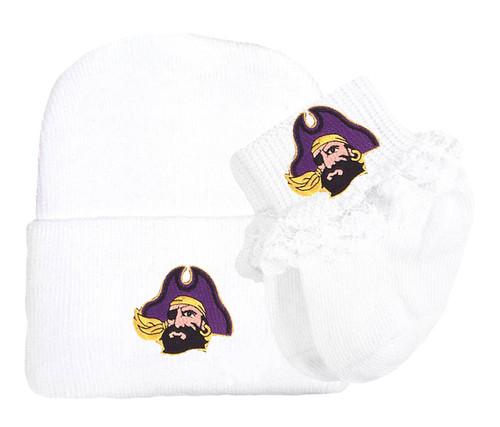 wholesale dealer 36b58 7230a france east carolina pirates beanie hat cap cuff purple gray c 92161 34560   coupon for east carolina pirates knit cap and socks baby gift set 06441  8d892
