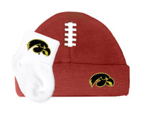 Iowa Hawkeyes Football Cap and Socks Baby Set