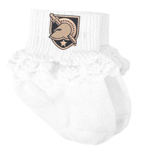 Army Black Knights Baby Sock Booties with Lace