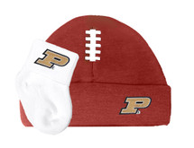Purdue Boilermakers Football Cap and Socks  Baby Set