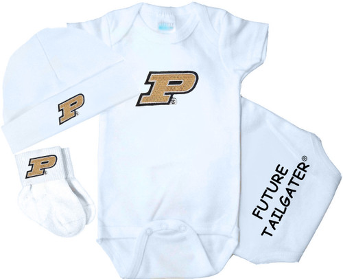 Purdue Boilermakers Homecoming 3 Piece Baby Gift Set