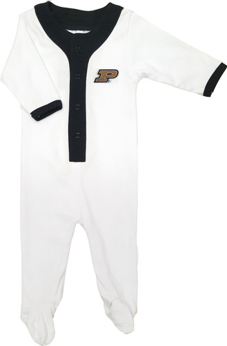 Purdue Boilermakers Baby Long Sleeve Baseball Style Playsuit