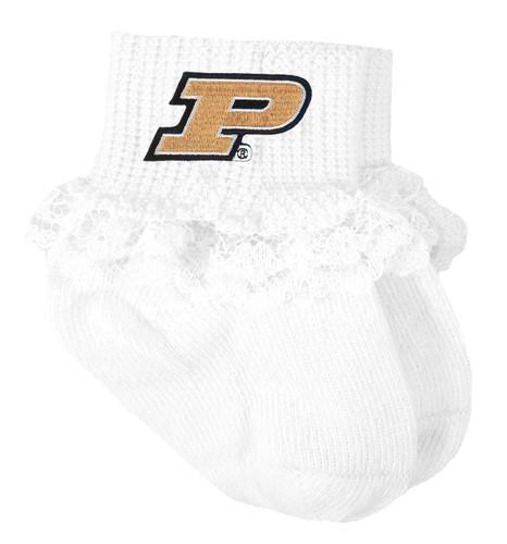 Purdue Boilermakers Baby Laced Sock Booties
