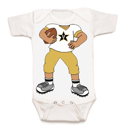 Vanderbilt Commodores Heads Up! Football Baby Onesie