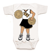 UCF Knights Heads Up! Cheerleader Baby Onesie