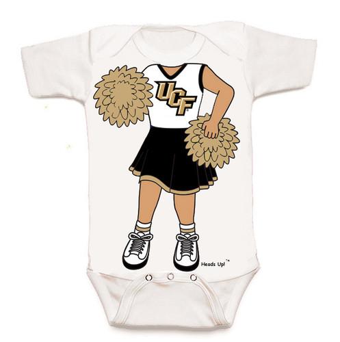 UCF Knights Heads Up! Cheerleader Baby Onesie