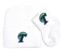 Tulane Green Wave Newborn Baby Knit Cap and Socks Set