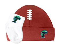 Tulane Green Wave Football Cap and Socks  Baby Set