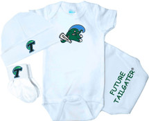 Tulane Green Wave Homecoming 3 Piece Baby Gift Set