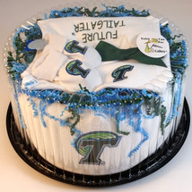 Tulane Green Wave Baby Fan Cake Clothing Gift Set