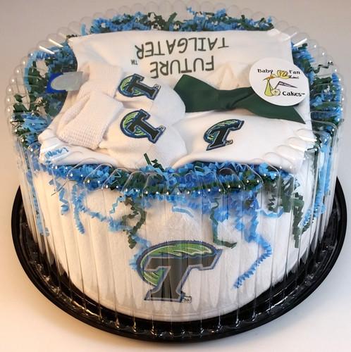 Tulane Green Wave Baby Fan Cake Clothing Gift Set