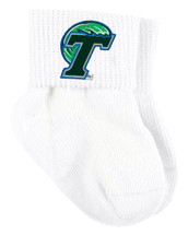 Tulane Green Wave Baby Sock Booties