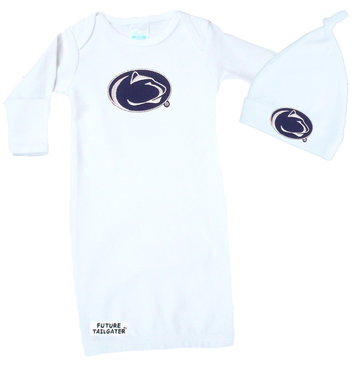 Penn State Nittany Lions Football Hat And Onesie Baby Gift Set