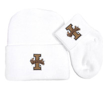 Idaho Vandals Newborn Baby Knit Cap and Socks Set
