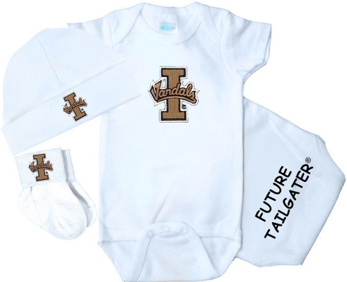 Idaho Vandals Homecoming 3 Piece Baby Gift Set