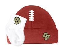 Cal Poly Mustangs Baby Football Cap and Socks Set