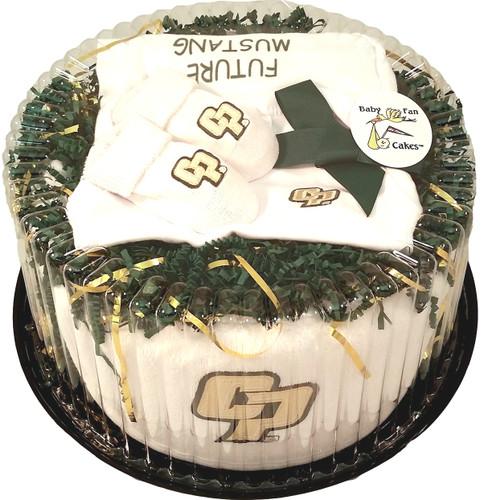 Cal Poly Mustangs Baby Fan Cake Clothing Gift Set