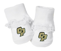 Cal Poly Mustangs Baby Toe Booties with Lace