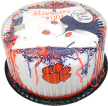 Clemson Tigers Baby Fan Cake Clothing Gift Set