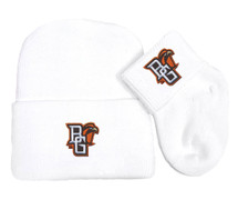 Bowling Green St. Falcons Newborn Baby Knit Cap and Socks Set